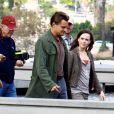 Leonardo DiCaprio et Ellen Page sur le tournage d' Inception , octobre 2009