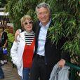 Laurent Boyer et sa compagne Alice Dona au Village Roland-Garros à l'occasion de la septième journée du tournoi des internationaux de tennis le 29 mai 2010
