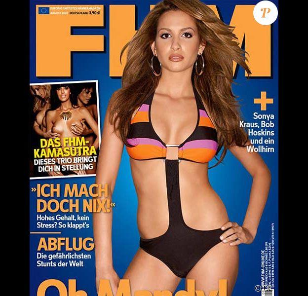 Mandy Capristo en couverture de FHM