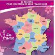 Carte des élections régionales de Miss France