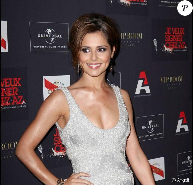 La magnifique Cheryl Cole, à l'occasion de la grande soirée du label AZ, organisée au VIP Room Theatre, à Paris, le 3 juin 2010.
