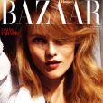 Vanessa Paradis en couverture de Harper's Bazaar UK du mois de juillet 2010