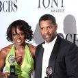 Viola Davis et Denzel Washington lors des Tony Awards le 13 juin 2010 à New York