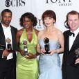 Denzel Washington, Viola Davis, Catherine Zeta-Jones et Douglas Hodge lors des Tony Awards le 13 juin 2010 à New York