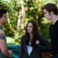 Taylor Lautner, Kristen Stewart et Robert Pattinson dans  Twilight 3 .