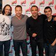 Stéphane Rousseau entouré des animateurs du 6/9 de NRJ, Nikos, Mustapha et Florian