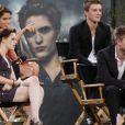 Le casting de Twilight sur le plateau du Jimmy Kimmel Live le 15 juin 2010 : Nikki Reed, Kristen Stewart et Robert Pattinson