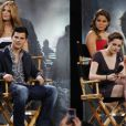 Le casting de Twilight sur le plateau du Jimmy Kimmel Live le 15 juin 2010 : Taylor Lautner et Kristen Stewart