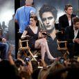 Le casting de Twilight sur le plateau du Jimmy Kimmel Live le 15 juin 2010 : Taylor Lautner, Kristen Stewart et Robert Pattinson