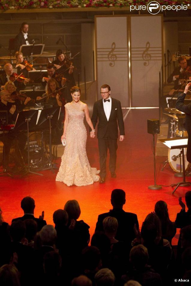 Vendredi 18 juin 2010, Victoria de Suède et Daniel Westling étaient les héros d'une soirée en l'honneur de leur mariage le samedi.