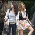 Selena Gomez et Katie Cassidy sur le tournage du film Monte Carlo à Paris le 21 juin 2010