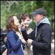 Leighton Meester sur le tournage du film Monte Carlo à Paris le 21 juin 2010