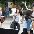 Leighton Meester, Selena Gomez et Katie Cassidy sur le tournage du film Monte Carlo à Paris le 21 juin 2010