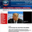 Suite à la débâcle de l'équipe de France lors de la Coupe du monde 2010, Jean-Pierre Escalettes, président de la FFF, fait ses cartons...