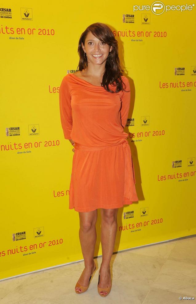 Emma de Caunes, à l'occasion de la cérémonie de clôture des Nuits en Or du Court Métrage, qui s'est tenue à l'Unesco, à Paris, le 30 juin 2010.