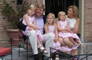 Maxima et Willem-Alexander des Pays-Bas : Retrouvez le couple princier et ses trois fillettes dans leur jardin !