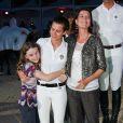 Caroline de Monaco, ses filles Charlotte et Alexandra, au Jumping de Monaco. Juin 2010