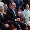 """Albert de Monaco préside l'inauguration officielle de l'Exposition """"Kyoto-Tokyo, des Samouraïs aux Mangas"""". 13/07/2010"""