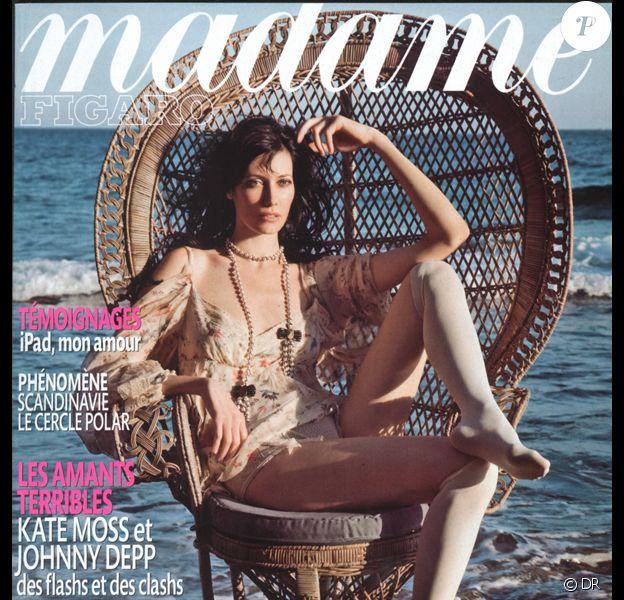 Mareva Galanter en couverture de Madame Figaro