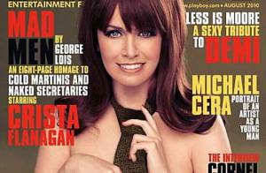 Crista Flanagan, de Mad Men, pose pour Playboy et ose dire :