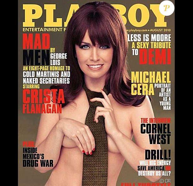 Crista Flanagan en couverture de Playboy du mois d'août 2010