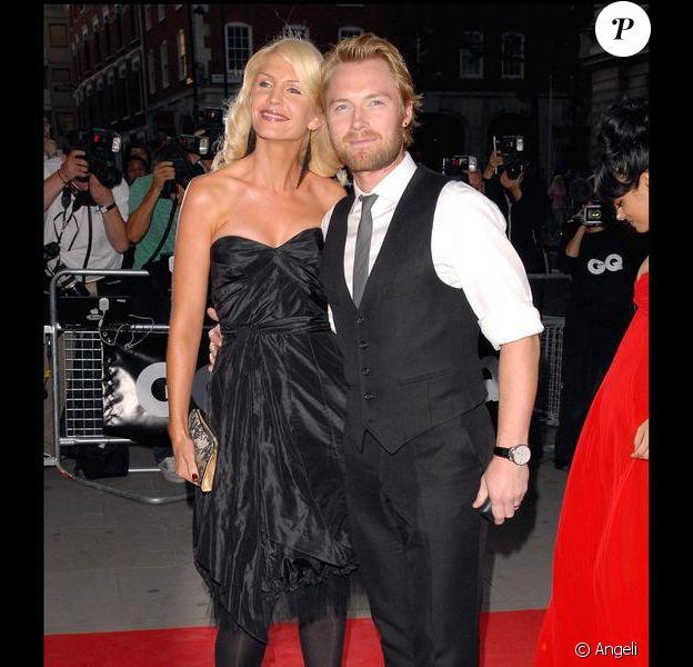 Ronan Keating et Yvonne, son épouse.
