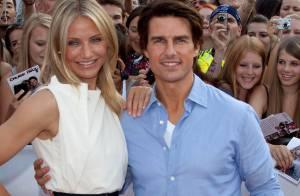 Cameron Diaz : Pendant que Tom Cruise copine avec la foule, elle expose ses jambes renversantes !