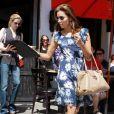 Eva Longoria à la sortie d'un restaurant à Los Angeles le 22 juillet 2010