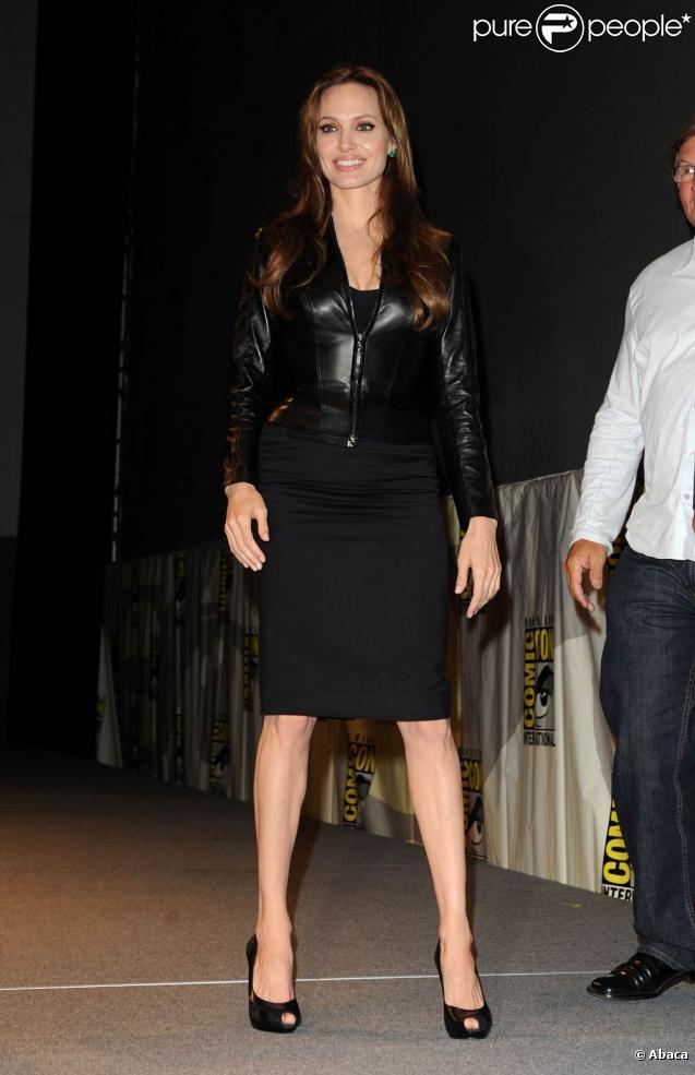 La ravissante Angelina Jolie à l'occasion de l'ouverture du Comic Con, à San Diego, en Californie, le 22 juillet 2010.
