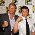 Dolph Lundgren et Sylvester Stallone à l'occasion de l'ouverture du Comic Con, à San Diego, en Californie, le 22 juillet 2010.