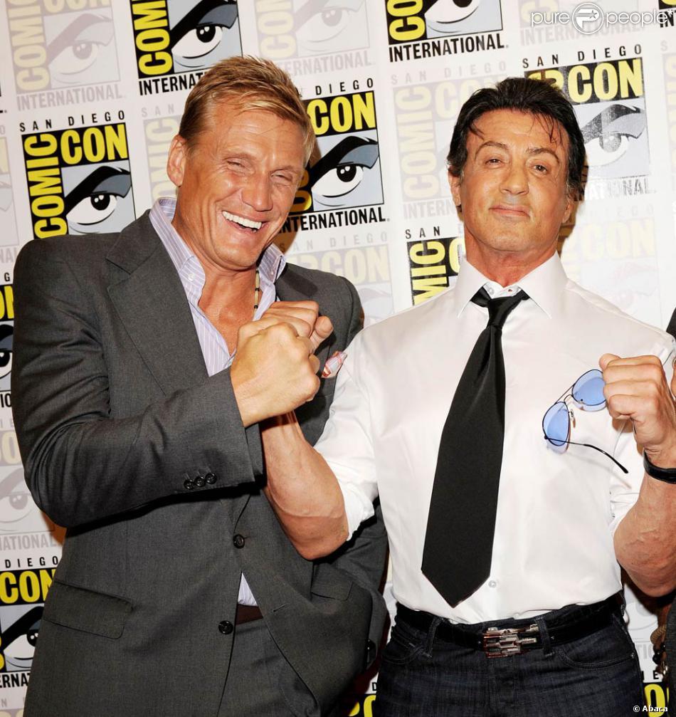 Dolph Lundgren Et Sylvester Stallone 224 L Occasion De L Ouverture Du Comic Con 224 San Diego En
