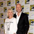Helen Mirren et Bruce Willis à l'occasion de l'ouverture du Comic Con, à San Diego, en Californie, le 22 juillet 2010.