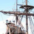 Des photos du fameux Black Pearl, sur le tournage de  Pirates des Caraïbes : La Fontaine de Jouvence , en juillet 2010.