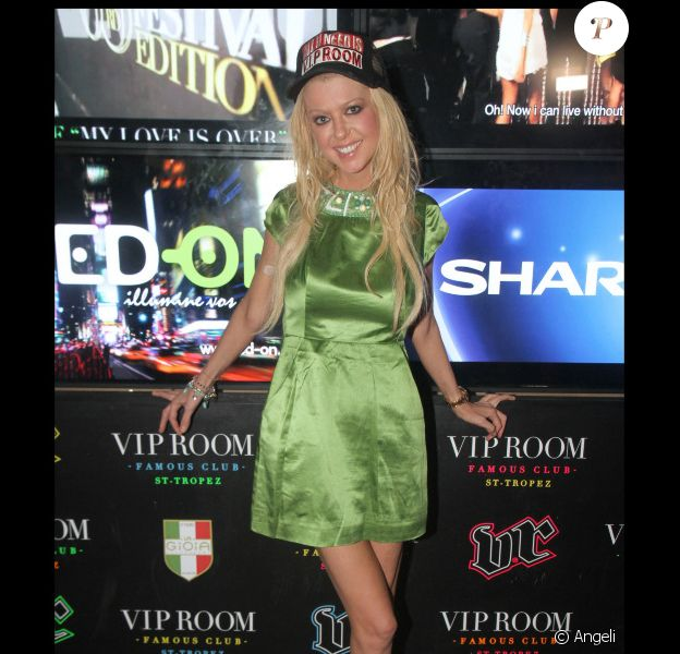 Tara Reid au VIP Room de Saint-Tropez, le 27 juillet 2010.