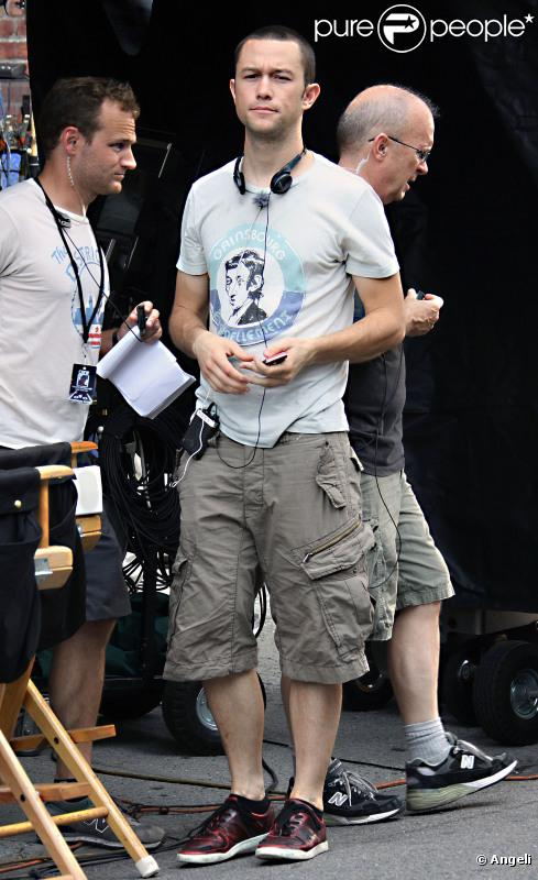 Joseph Gordon-Levitt lors du tournage de Premium Rush à New York le 29 juillet 2010