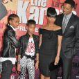 La famille Smith réunie pour l'avant-première américaine de  Karate Kid , en juillet 2010.