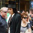 Les parents de Katy Perry sont venus voir leur futur gendre, Russell Brand, sur le tournage du film Arthur à New York le 3 août 2010