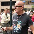 Le père de Katy Perry venu voir Russell Brand sur le tournage du film Arthur à New York le 3 août 2010