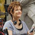 La mère de Katy Perry venue voir son futur gendre Russell Brand sur le tournage du film Arthur à New York le 3 août 2010