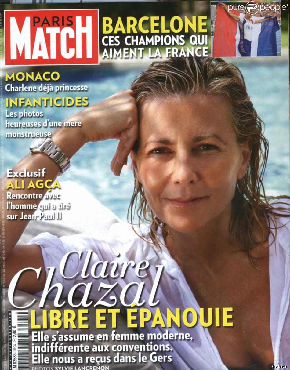 claire chazal en couverture du paris match en kiosque le 5 ao t 2010 purepeople. Black Bedroom Furniture Sets. Home Design Ideas
