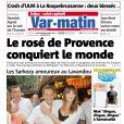 Couverture de Var-Matin avec Nicolas Sarkozy et Carla Bruni