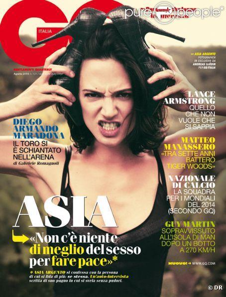Asia Argento en couverture de GQ