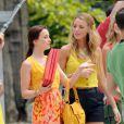 Blake Lively et Leighton Meester sur le tournage de Gossip Girl à New York le 17 août 2010