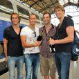 De g. à dte : Fabien Gilot, Fred Bousquet, William Meynard et Camille Lacourt. Champagne !