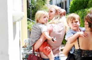 Britney Spears : Elle emmène ses fistons trop mignons... au fast food ! Telle mère, tels fils...