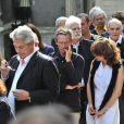 Patrice Leconte et Claude Miller aux obsèques d'Alain Corneau, au cimetière du Père Lachaise, à Paris, le 4 septembre 2010.