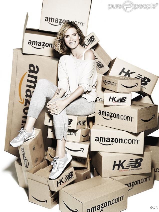 Heidi klum pour New Balance en collaboration avec le site amazon.com