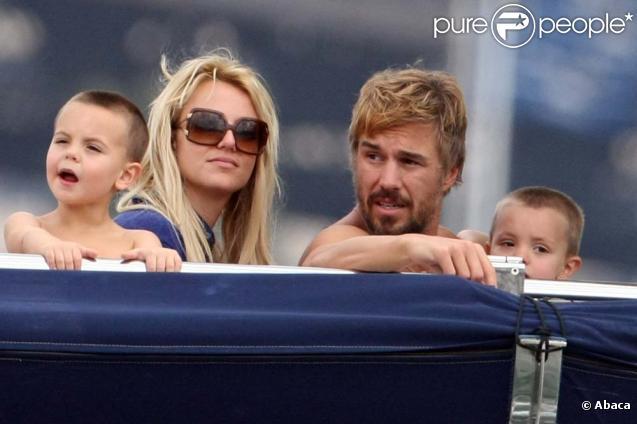 Britney Spears, ses fils, Jayden et Preston, et son petit ami, Jason Trawick