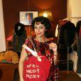 Fadia Otte lors du lancement de la collection de bijoux Safe World Peace dans la boutique Nathalie Garcon, Galerie Vivienne à Paris le 9 septembre 2010