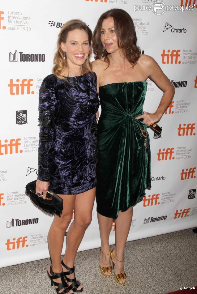 Hilary Swank et Minnie Driver, à l'occasion de la présentation de  Conviction , dans le cadre du Festival du Film de Toronto, le 11 septembre 2010.